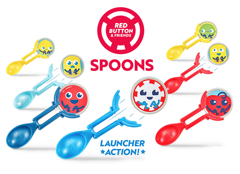 Red Button & Friends Spoons