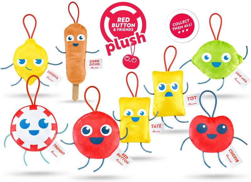 Red Button & Friends Plush