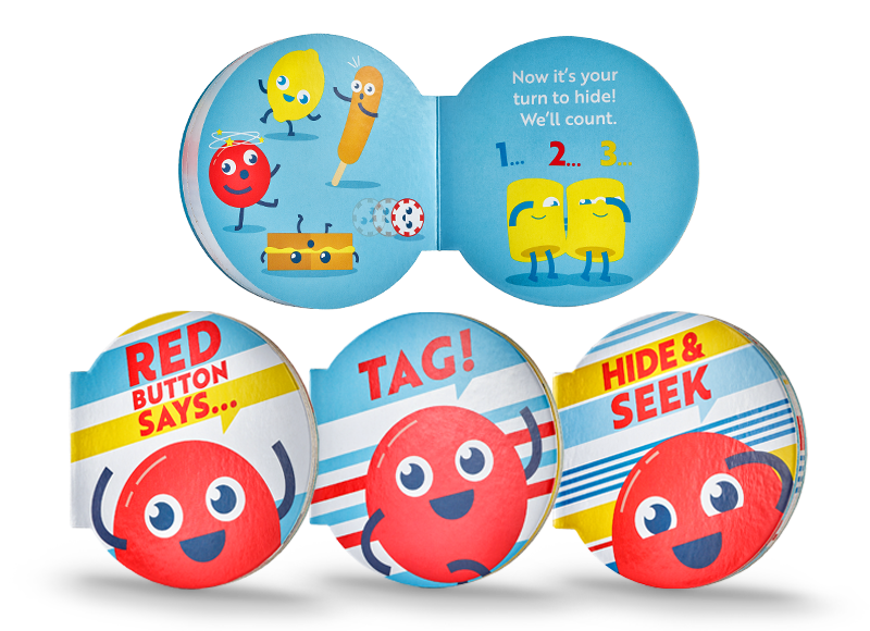 Fun & Games with Red Button & Friends books